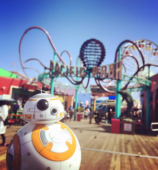 BB8 Santa Monica pier california
