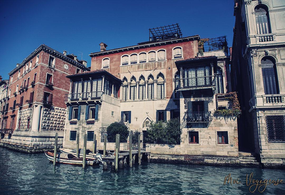 Depuis Vaporetto Venise grand canal
