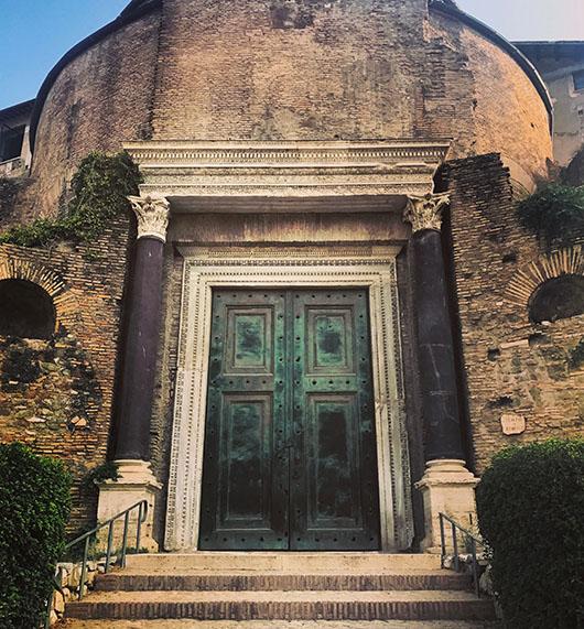 Forum rome italie Porte temple