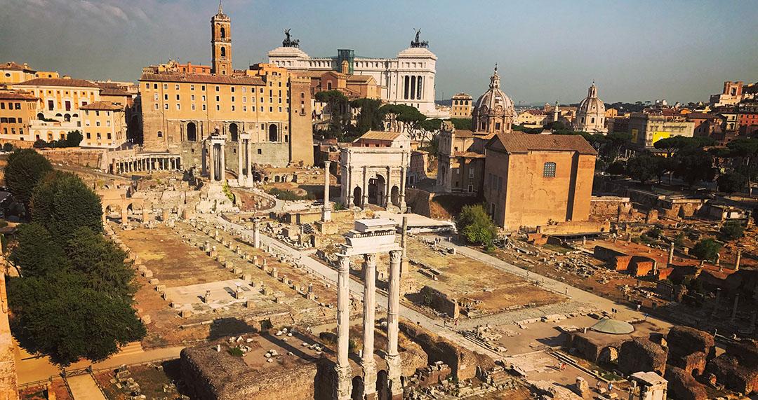 Forum rome italie Vue d'ensemble
