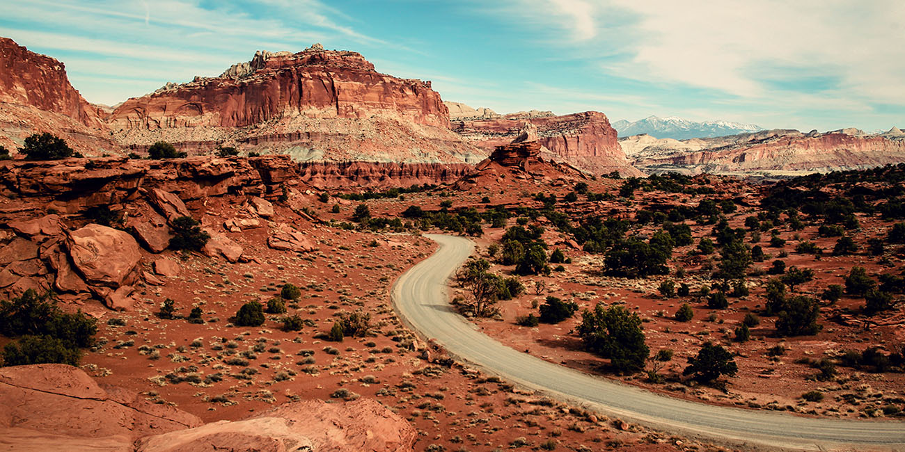 Capitol Reef National Park Utah USA Road trip Fruita Scenic Drive