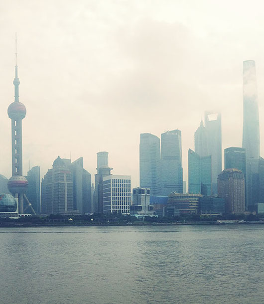 Shanghai bund skyline china