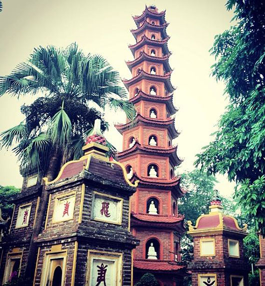 Pagode Tran Quoc Hanoi Vietnam