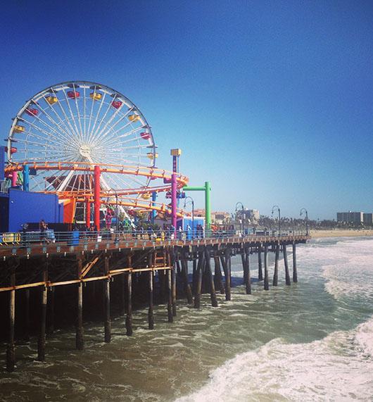Pier Santa Monica Fete forraine California