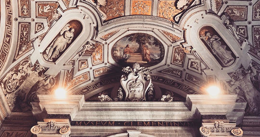 Plafond musées du vatican rome italie 2