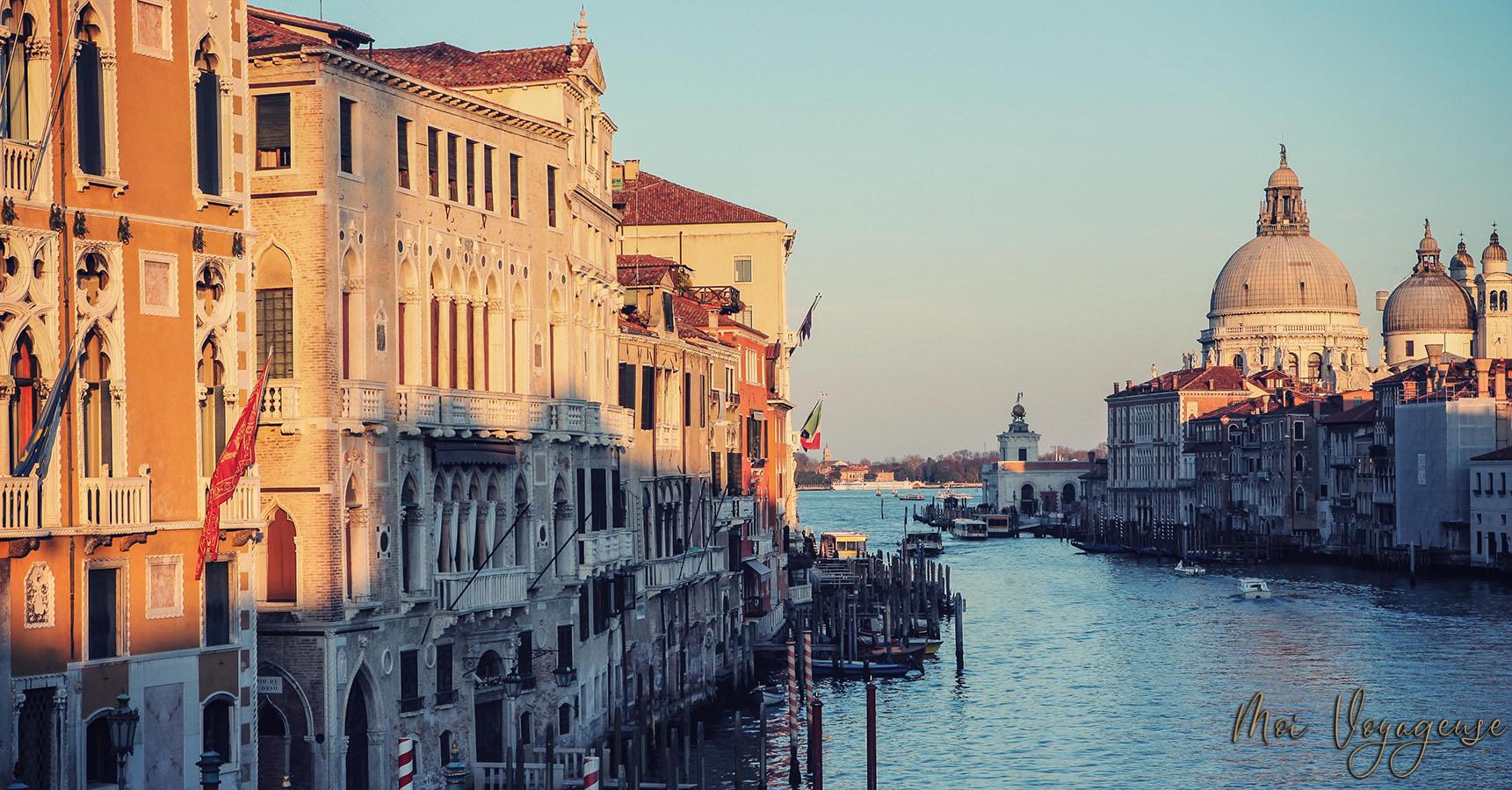 Pont de l'académie venise italie europe coucher de soleil grand canal
