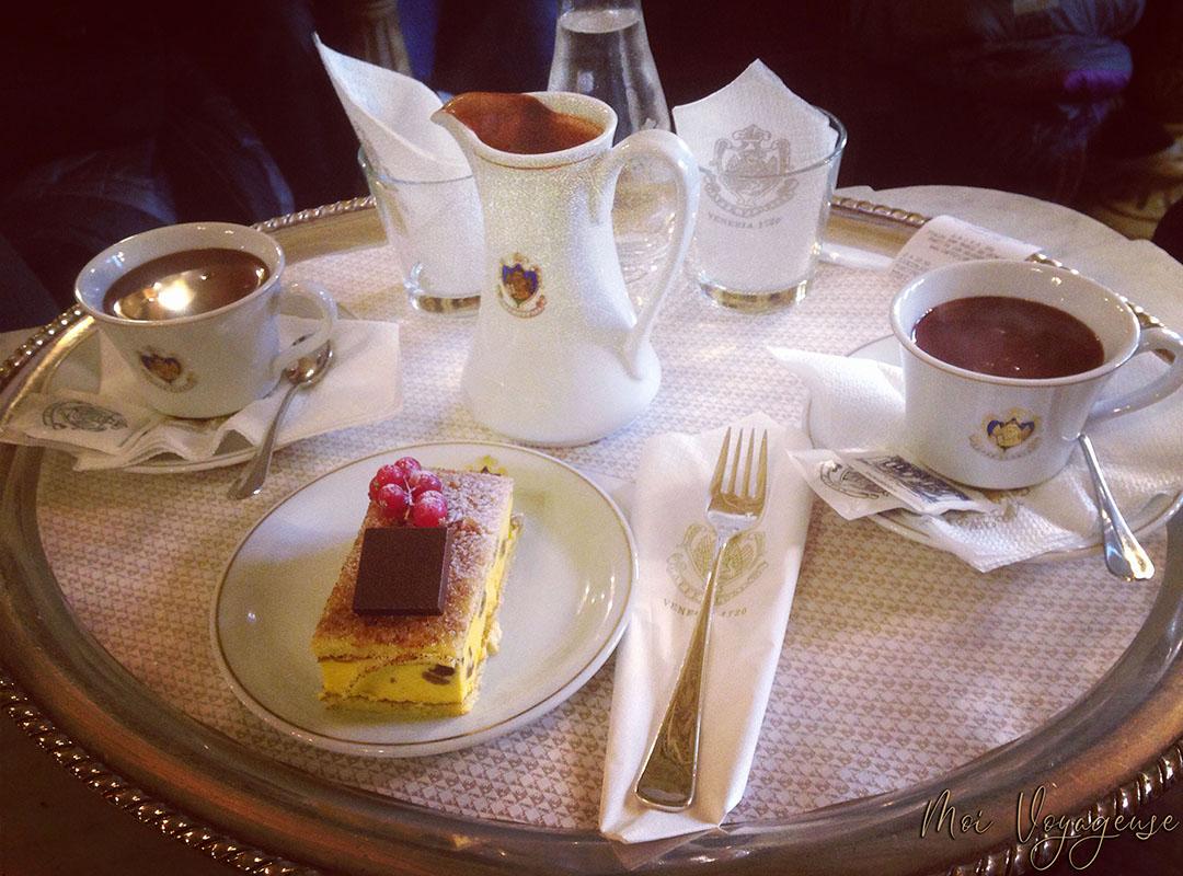 Chocolat chaud gouter venise salon de thé san marco