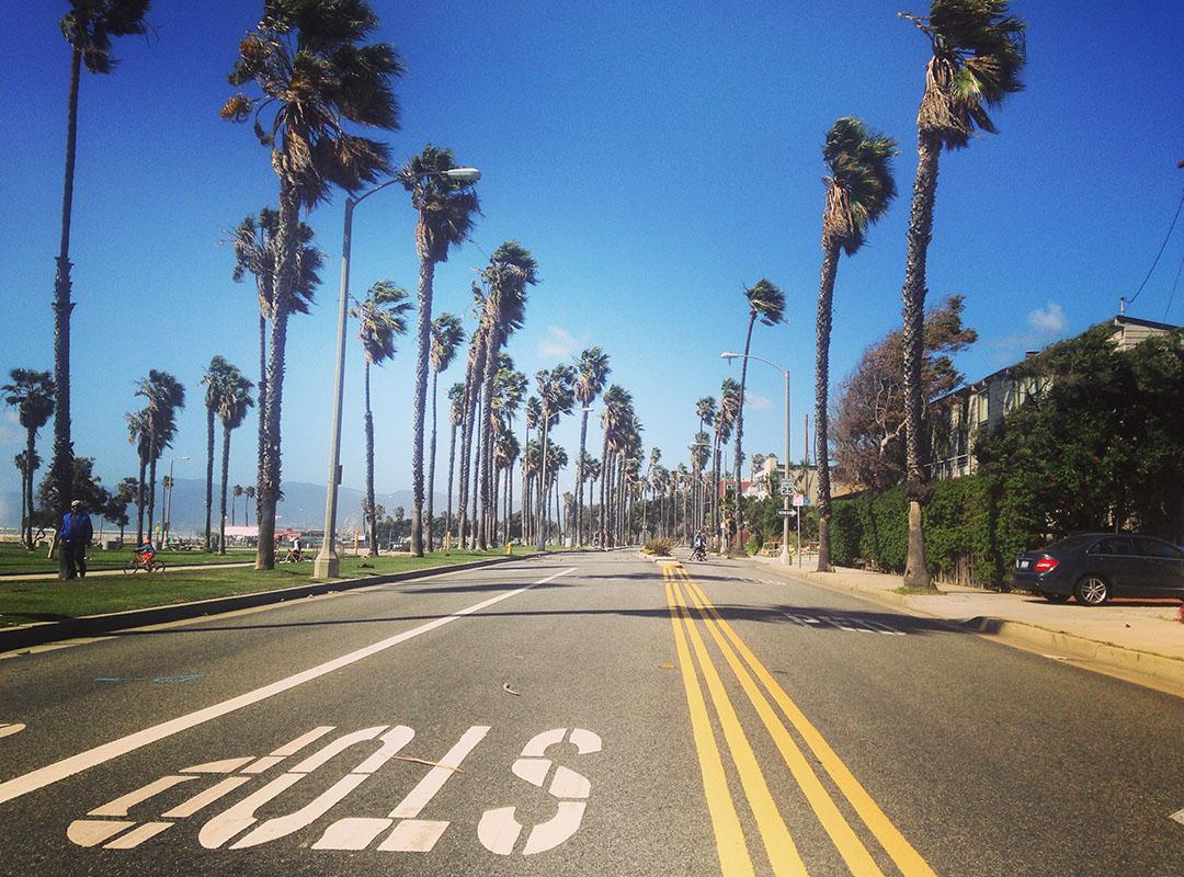 Road Santa Monica beach california