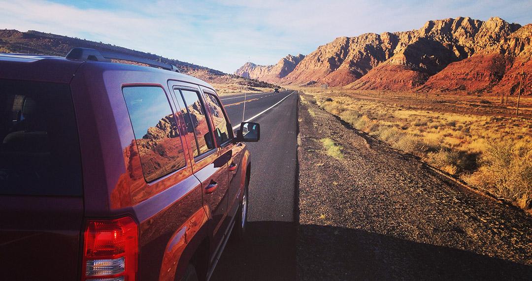 Road Trip USA Arizona Roads Jeep
