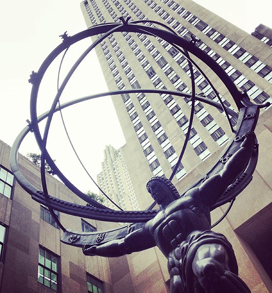 Rockefeller Center Statue Sculpture Architecture New York Manhattan