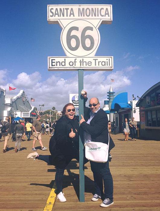 Santa Monica Road 66 end of trail california
