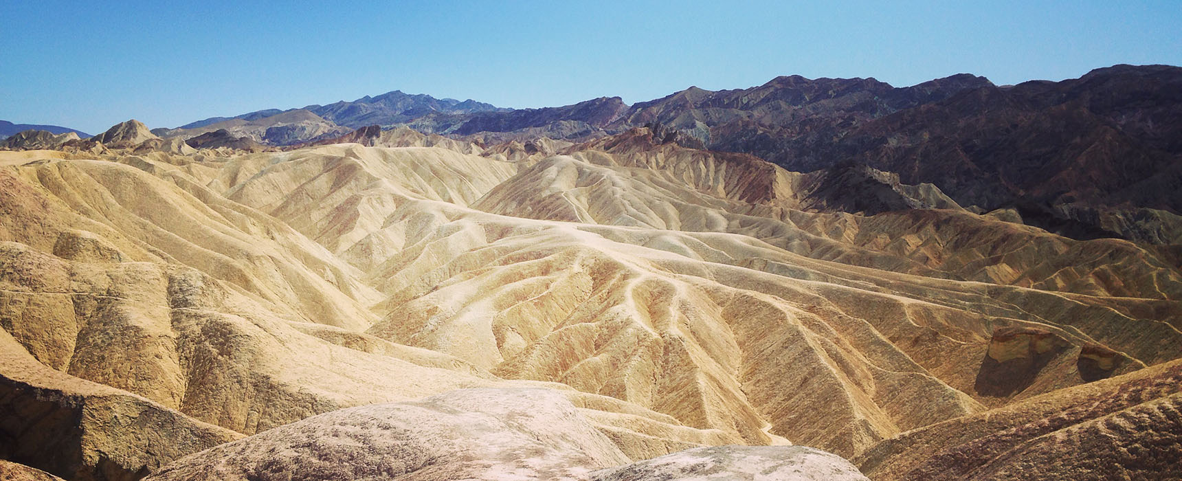 Zabriskie Point Vallée de la mort Californie Death Valley National Park
