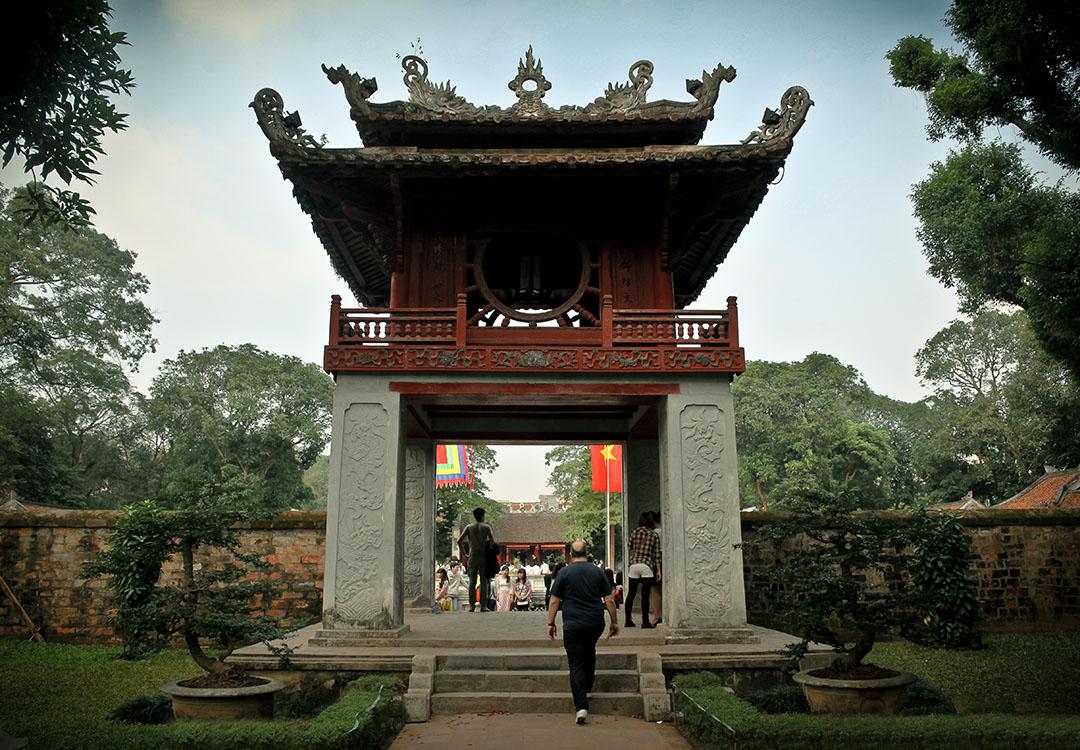 Temple de la littérature hanoi vietnam