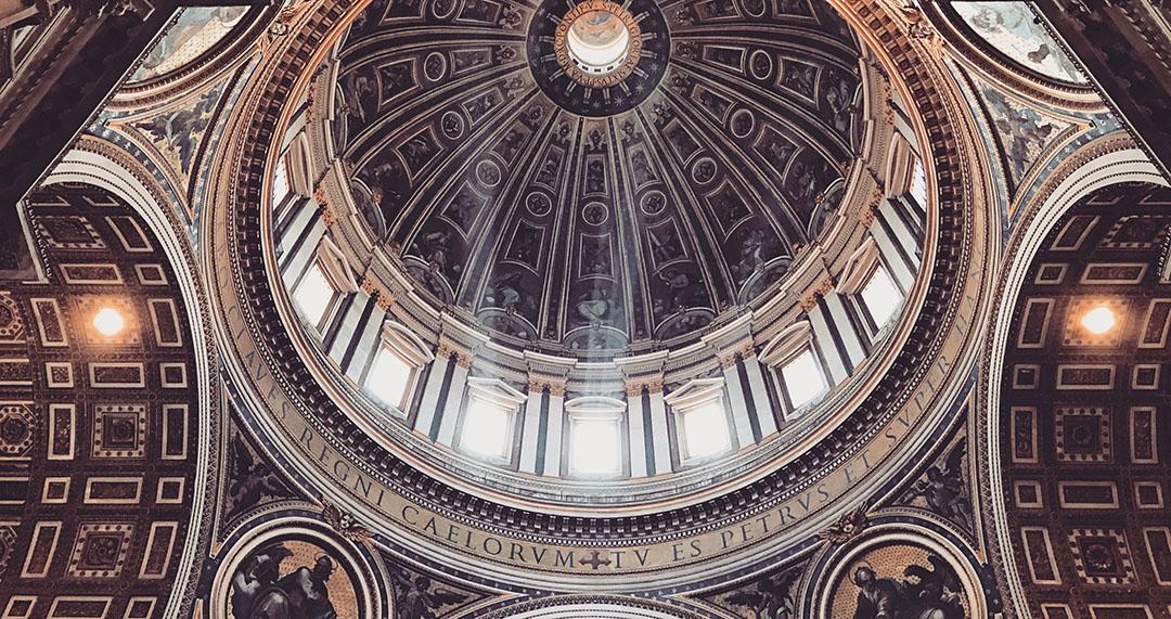 Vatican Basilique saint pierre plafond